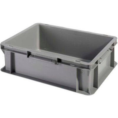 "SSI Schaefer Euro-Fix Solid Container EF4120 - 16"" x 12"" x 5"", Gray - Pkg Qty 20"