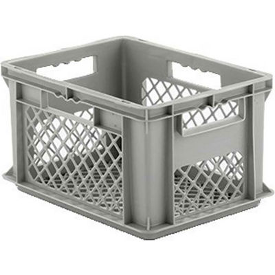 "SSI Schaefer Euro-Fix Mesh Container EF4223 - 16"" x 12"" x 9"", Gray - Pkg Qty 12"
