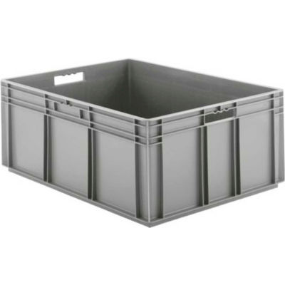 """SSI Schaefer Euro-Fix Solid Container EF8320 - 23-3/4"""" x 31-1/2"""" x 12-5/8"""", Gray - Pkg Qty 2"""