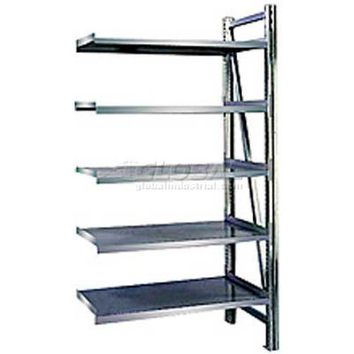 "Steel Pick Shelving, 5 Level, Single, Straight, 78""H x 50""W x 32""D, Add-On"