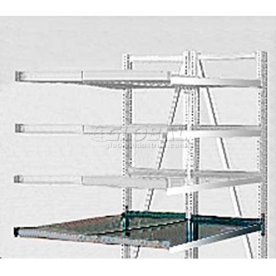 "Steel Pick Shelf Kit, Double, Straight/Straight, 50""W x  48""D"