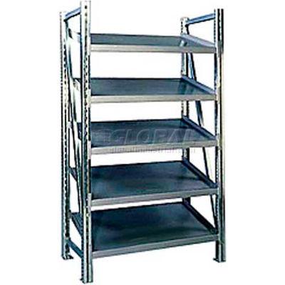 """Steel Pick Shelving, 5 Level, Single, Tilt, 78""""H x 50""""W x 24""""D, Starter"""