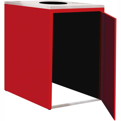 """Single Recycle Cabinet - 30""""W x 27-3/4""""D x 39-15/32""""H (Carmine Red)"""