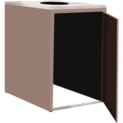 """Single Recycle Cabinet - 30""""W x 27-3/4""""D x 39-15/32""""H (Pewter Gray)"""