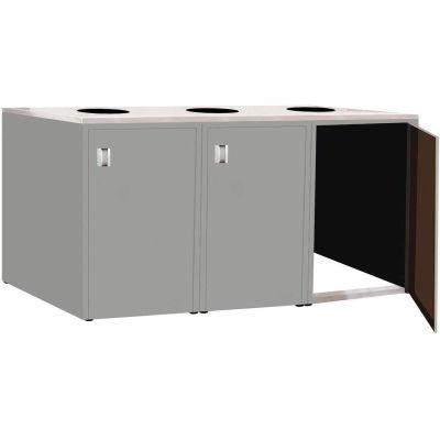 "Triple Recycle Cabinet - 90""W x 27-3/4""D x 39-15/32""H (Sebring Gray)"