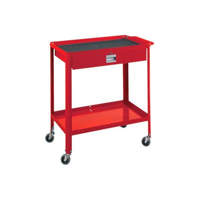 "Technician Cart- 29-1/4""W x 18-1/4""D x 34""H-Carmine Red"