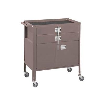 "Deluxe Technician Cart-Portable Cart, 29-1/4""W x 18-1/4""D x 34""H-Pewter Grey"