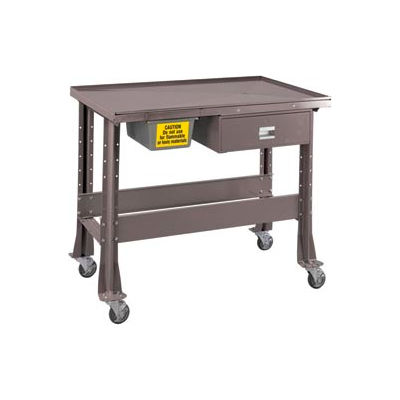 """Standard Tear-Down/Fluid Containment Bench-Portable, 48""""W x 32""""D-Pewter Grey"""