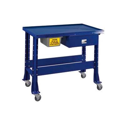 """Standard Tear-Down/Fluid Containment Bench-Portable, 48""""W x 32""""D-St.Louis Blue"""