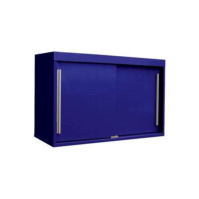 "48"" Sliding Door Upper Cabinet-48""W x 15""D x 30""H-St.Louis Blue"