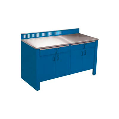 Realiti® Workbench-Stationary Includes Stainless Steel Top-Monaco Blue
