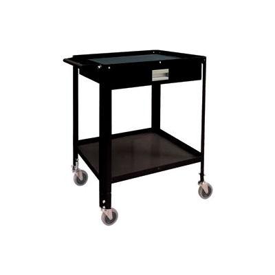 """Mini Technician Cart-22-1/4""""W x 18-1/4""""D x 34'H-Gloss Black"""