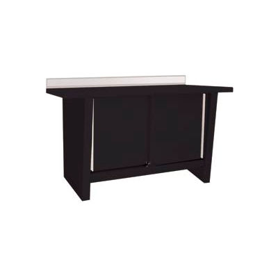 Custom® Series-Stationary, Steel Top, 2 Doors-Gloss Black
