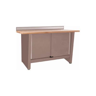 Custom® Series-Stationary, Hardwood Top, 2 Doors-Pewter Grey