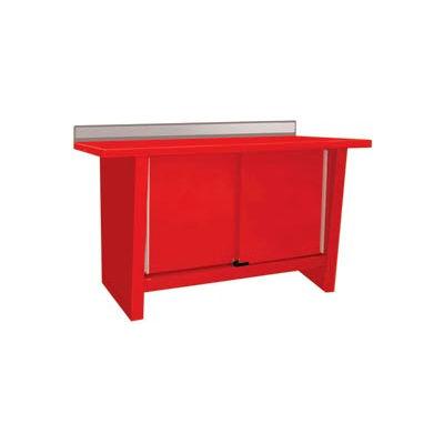 Custom® Series-Stationary, Stainless Steel Top, 2 Doors-Carmine Red