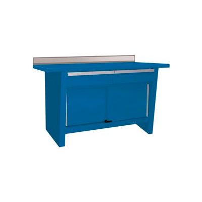 Custom® Series-Stationary, Steel Top, 2 Drawers/2 Doors-Monaco Blue