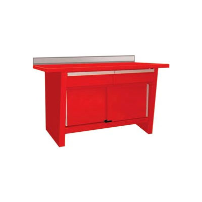 Custom® Series-Stationary, Stainless Steel Top,2 Drawers/2 Doors-Red