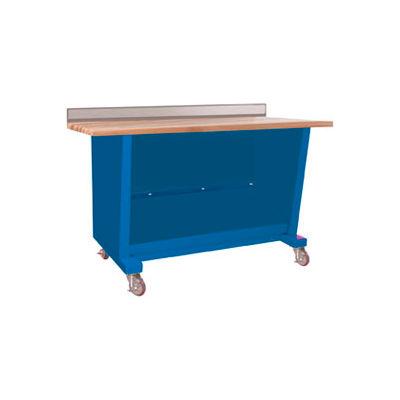 Custom® Series-Portable, Hardwood Maple Top, open-Monaco Blue