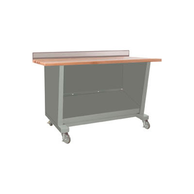 Custom® Series-Portable, Hardwood Maple Top, open-Sebring Grey