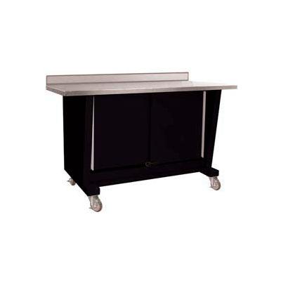 Custom® Series-Portable, Stainless Steel Top, 2 Doors-Gloss Black