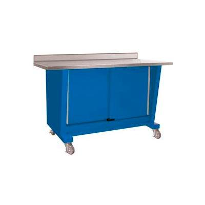 Custom® Series-Portable, Stainless Steel Top, 2 Doors-Monaco Blue