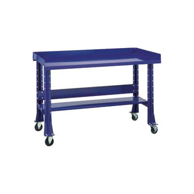 "Shureshop® Mobile Automotive Workbench - Steel -72""W x 34""D - St. Louis Blue"