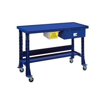 "Oversized Tear-Down/Fluid Containment Bench-Portable, 60""W x 32""D-St.Louis Blue"