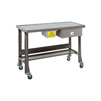 """Oversized Tear-Down/Fluid Containment Bench-Portable, 60""""W x 32""""D-Sebring Gray"""