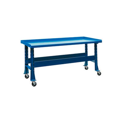 "Trans Max Bench-Portable, Steel Top, 73-1/2W x 34-1/4""D-Monaco Blue"