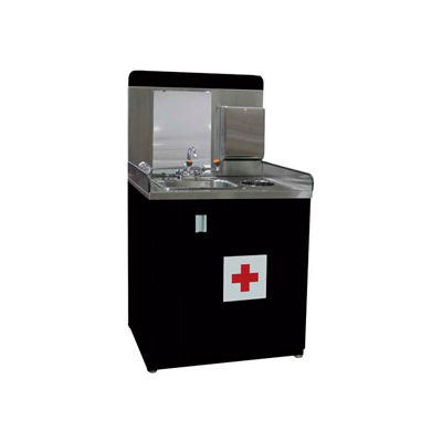 """Shure Safety Station-36""""W x 30""""D x 66-1/2""""H-Gloss Black"""
