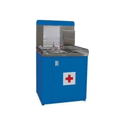 "Shure Safety Station-36""W x 30""D x 66-1/2""H-Monaco Blue"