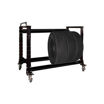 "Tire Cart 54-1/2""W x 25-5/8""D x 41""H-Gloss Black"