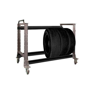 "Tire Cart 54-1/2""W x 25-5/8""D x 41""H-Pewter Grey"