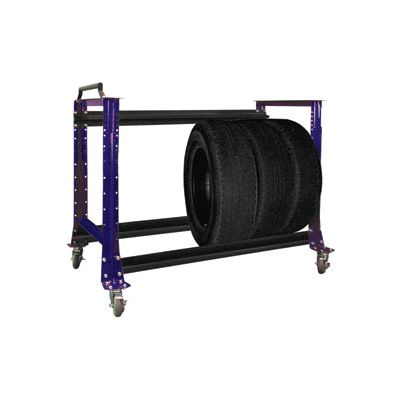 "Tire Cart 54-1/2""W x 25-5/8""D x 41""H-St.Louis Blue"