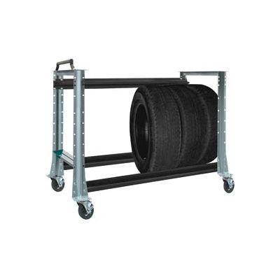 "Tire Cart 54-1/2""W x 25-5/8""D x 41""H-Sebring Grey"