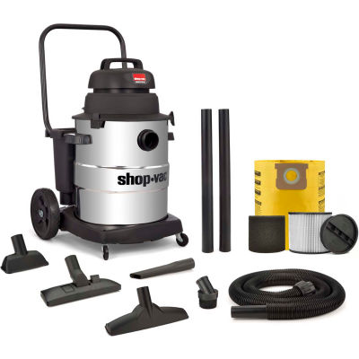 Shop-Vac® 10 Gallon 6.0 Peak HP Stainless Industrial Wet Dry Vacuum- 9258210