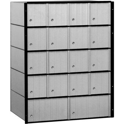 """Aluminum Mailbox 2218 - 23-1/2""""W x 15-1/2""""D x 30""""H, 18 Doors, Standard System"""