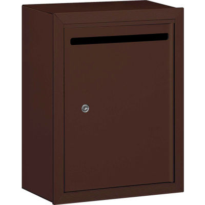 """Letter Box 2240ZP - 15""""W x 7-1/2""""D x 19""""H Standard, Surface Mounted, Bronze, Private Access"""
