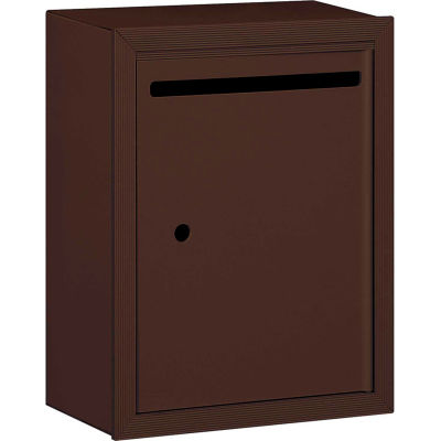 """Letter Box 2240ZU - 15""""W x 7-1/2""""D x 19""""H Standard, Surface Mounted, Bronze, USPS Access"""