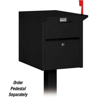 Locking Security Mailbox 4350BLK - Black, USPS Approved
