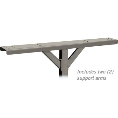 Spreader 4384D-NIC - 4 Wide with 2 Supporting Arms, for Designer Roadside Mailboxes, Nickel