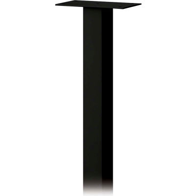 Standard Pedestal 4385BLK - In-Ground Mounted, for Roadside Mailbox, Package Drop, Black
