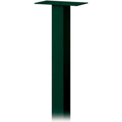 Standard Pedestal 4385GRN - In-Ground Mounted, for Roadside Mailbox, Package Drop, Green
