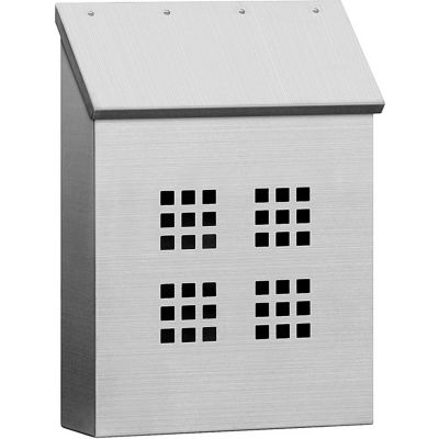 Stainless Steel Mailbox 4525 - Surface Mounted Decorative, Vertical Style, Satin
