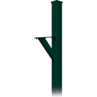Decorative Mailbox Post 4825GRN - Modern, In-Ground Mounted, Green