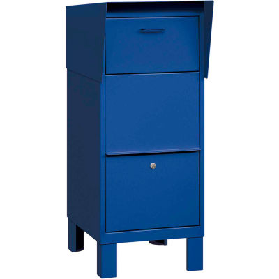 Courier And Collection Box 4975BLU - Blue, Private Access