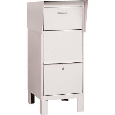 Courier And Collection Box 4975WHT - White, Private Access