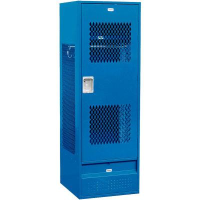 "Salsbury Gear Metal Locker 72024 - Ventilated Door 24""W x 24""D x 72""H Blue Assembled"