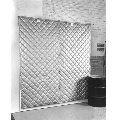 """Singer Safety SC124-4 QFM Double Faced Quilted Wall Panel, 4'W x 4'H x 2"""" Thick"""