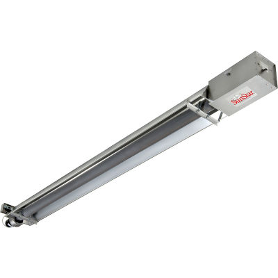 SunStar Natural Gas Infrared Heater Straight Tube Vacuum Tough Guy - SIS50-15-TG-N5 - 50000 BTU